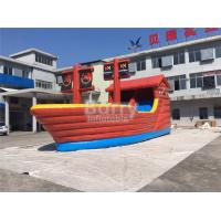 Buy cheap Playful Giant Pirate Ship Inflatable Bouncer Castle Combo With Slide from wholesalers
