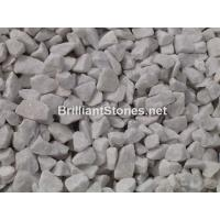 Buy cheap Natural Snow White Marble Gravel, Unpolished, Crushed, Different sizes, Widely For Garden from wholesalers