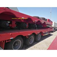 Buy cheap Promotion 4 Axle 60 Tons Low Bed Heavy Duty Semi Trailers With Long Service Life from wholesalers