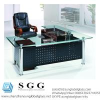 Buy cheap CE& SGS certificated Excellence quality big office glass table top from wholesalers