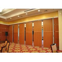 Melamine Carpet Finish Folding Glass Partitions For Meeting Room