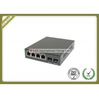 Buy cheap 10/100/1000M Fiber Optic Media Converter With 2 SFP Fiber Port And 4 RJ-45 Ports from wholesalers