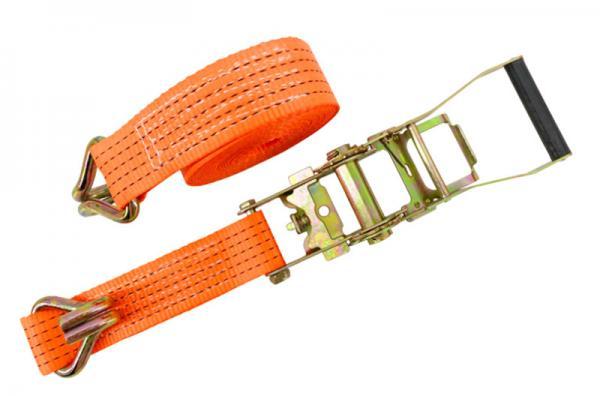 Buy cheap Custom heavy duty car trailer ratchet tie down straps / cargo tie down straps from wholesalers