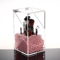 Buy cheap Plexiglass Makeup Brush Display Stand Clear Acrylic Cosmetic Brush Holder from wholesalers