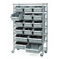 Buy cheap Commercial Garage Rolling Wire Rack Shelves 16 Bins Rack Steel Frame Shelving from wholesalers