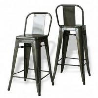 Buy cheap Metal Tolix Iron Bar Stool / TOLIX Steel Backrest Barstools For Dining from wholesalers