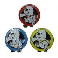 Buy cheap Metal Stylish Personalized Ball Markers Hat Clips Cartoon Design As Golf Themed Gifts from wholesalers