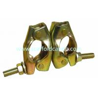 Buy cheap Good performance Q235 British pressed swivel coupler, rotation clamp for 48.3mm pipe electro galvanized to connect pipes from wholesalers