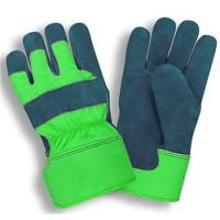 "Buy cheap 10.5""Features Blue Waterproof Cowhide Split Leather Work Gloves from wholesalers"