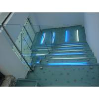 Buy cheap Light Blue Anti Slip Glass Stair Treads, Shock Resistant Anti Skid Laminated Glass from wholesalers