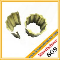 Buy cheap two parts joint round brass decoration material section profile from wholesalers