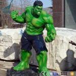 Buy cheap Customized theme park fiberglass figure sculpture Hulk statues from wholesalers