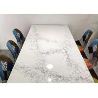 Buy cheap Indoor Projects Honed Finish Quartz Engineered Stone Countertops Easy To Clean from wholesalers