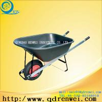 Buy cheap double wheel stainless steel wheel barrow from wholesalers