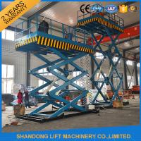 Buy cheap 2T 7m Portable Stationary Hydraulic Scissor Lift Table High Strength Manganese Steel from wholesalers