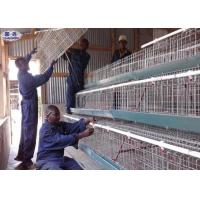 Buy cheap Custom Poultry Chicken Cages / Indoor Chicken Cage Angle Iron Steel Frame from wholesalers