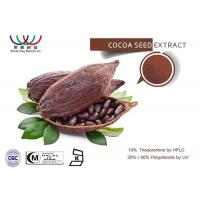Buy cheap All Natural Cocoa Extract Weight Loss , Pure Dark Cocoa Powder Antioxidants from wholesalers