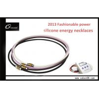 Buy cheap SOBON Germanium Silicone Colorful Energy Balance Pendant Necklace from wholesalers