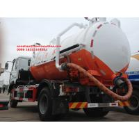 Buy cheap Vacuum Sewer Cleaning Sewage Suction Truck SINOTRUK 4x2 10 - 12m3 from wholesalers