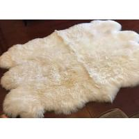 Buy cheap Long Hair Small Sheepskin For Chair , Luxury Silky Fleece Home Shag Area Rugs from wholesalers