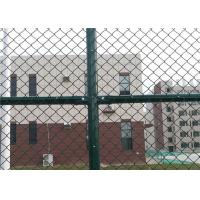 China 6 x 12 FT Green Chain Link Fence For Sports Court 4.0 MM Diamond Mesh Fence on sale