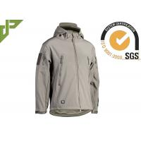 Buy cheap Polyester Green Military Tactical Jackets With Armhole / Hat For Mountaineering from wholesalers