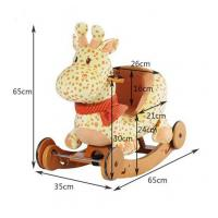 Buy cheap Wooden Plush Rocking Toy , Giraffe Plush Rocking Animal CE Certificate from wholesalers