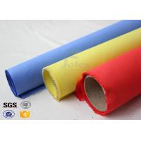 Buy cheap Red Silicone Rubber Coated Fiberglass Engineer Acoustic Insulation Fabric Material from wholesalers