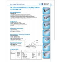 Buy cheap pp Membrane Pleated Cartridge Filters polypropylene from wholesalers