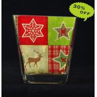 Buy cheap 24K Gold Foil Handmade Glassware, Decorative Candleholder from wholesalers