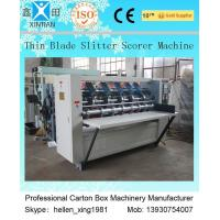 Buy cheap Corrugated Vertical Cutting Paper Slitting Carton Machine For Pressing / Folding from wholesalers