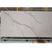 Buy cheap 6mm Calacatta White Stone Slab Tile product