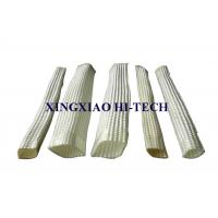 White Color Wall Braided Heat Insulation Sleeve Flame Retardant 2.0 - 150mm
