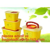 Buy cheap BIOHAZARD WASTE CONTAINERS, PLASTIC STORAGE BOX, MEDICAL TOOL BOX, SHARP CONTAINER, SAFETY BOX, Disposable Hospital Bioh from wholesalers