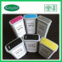 Buy cheap 130ml Replacement Pigment Ink Cartridges For HP72  HPT1100 , BK Y M Color product