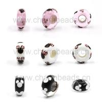 Buy cheap Micky Murano Glass Beads with Big Hole Fit for DIY Charms from wholesalers