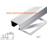 Buy cheap Architectural Aluminum Stair Nosing , Grooved Safety Tread Stair Nosings For Carpet from wholesalers