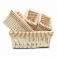Buy cheap 4-piece Storage Basket Set, Made of Willow, Ideal for Laundry and Home Storage from wholesalers