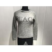 Buy cheap Ladies 7Guage Knitted Wool Nylon Alpaca Long Sleeve embroidery Crew Neck Sweater Pullover from wholesalers