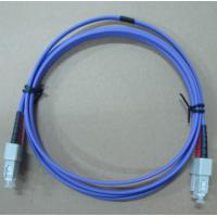 Buy cheap OM3 SC / UPC-SC / UPC Duplex LSZH Multimode Fiber Optic Cable Blue from wholesalers
