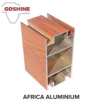 Buy cheap Red Wood Finish Aluminium Profiles High Coating Hardness And Strong Adhesion product