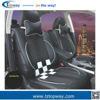Buy cheap square grid high quality fiber leather silk floss insert car seat covers universal use from wholesalers