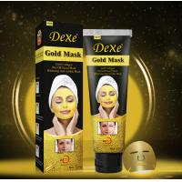 Buy cheap DEXE gold mask  gold collagen whitening anti wrinkle mask OEM ODM golden collagen peel off facial gold mask from wholesalers