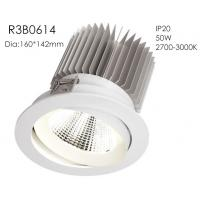 Buy cheap Aluminum High Power 50w 3000k White Fixture Spring Install 1400mA 37V Five Star Hotel Downlights/R3B0614 from wholesalers