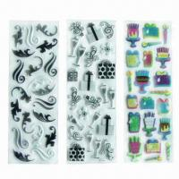 Buy cheap Puffy stickers/foam stickers, eco-friendly material, used for decoration/promotional/advertisement product