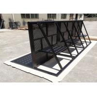 Buy cheap Concert Crowd Control Barriers Black Surface With 40x50x2mm Square Tube product
