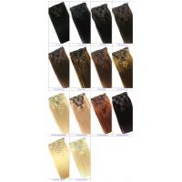 Buy cheap Clip in Human Hair Straight Wavy Clip in Hair Extensions for Black Women from wholesalers