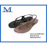 Buy cheap colorful nude china new fashion PCU women slippers ASM-B06L  36-41# from wholesalers