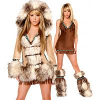 Buy cheap Sexy Eskimo Sexy Womens Halloween Costumes With Coat / Dress / Legwarmers from wholesalers