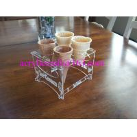 Buy cheap Detachable Engraved Acrylic 4 Waffle or Cones Holder, 4 slot Ice Cream Cone Display Stand from wholesalers